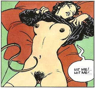 a comic book pussy whipping