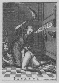 monk flogging girl