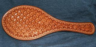 waffle iron leather paddle