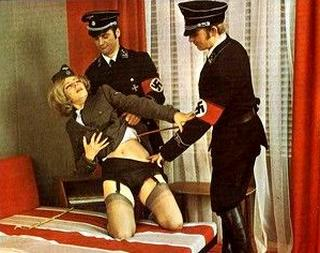 nazi interrogators strip female victim before painful whipping interrogation