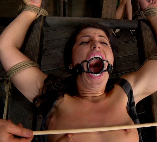 mia gold gets a brutal-looking nipple caning