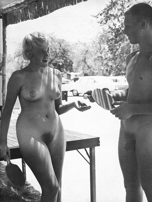 table tennis paddle spankings at the naturist camp