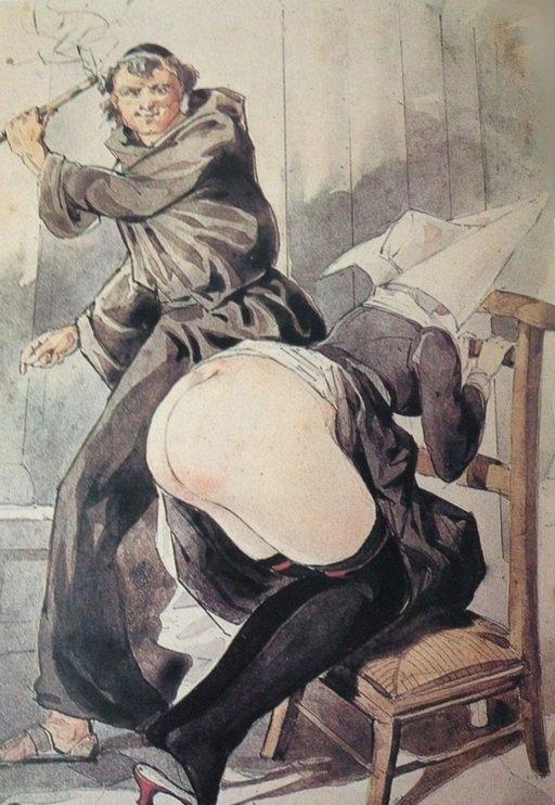 whipping a nun