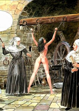 vicious nuns whip a naked girl