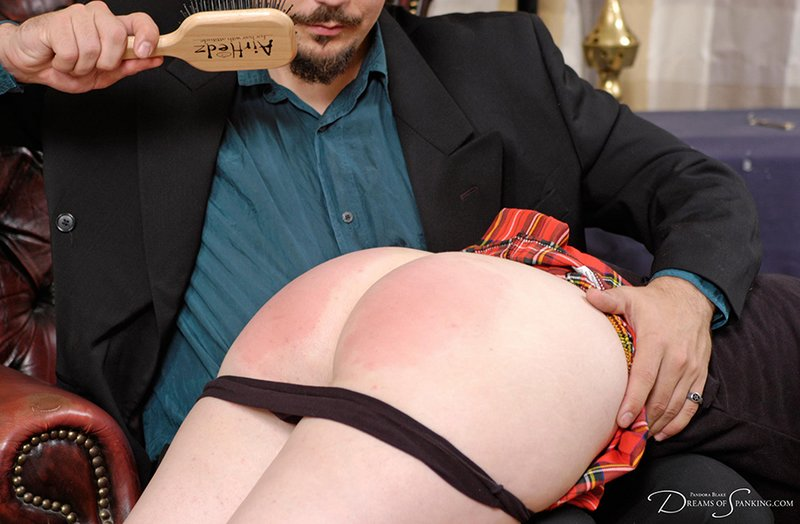 pandora gets a hairbrush spanking from her teacher