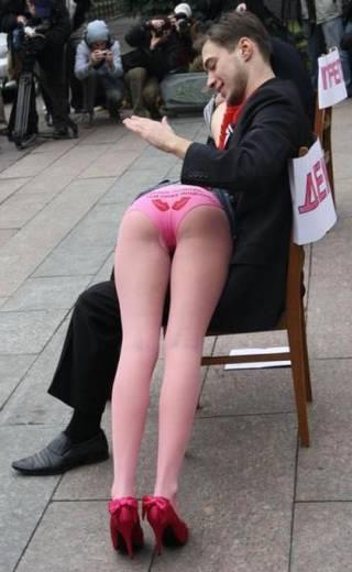 cute otk protest spanking