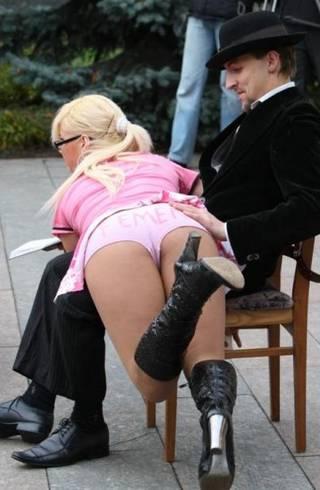 public otk spanking
