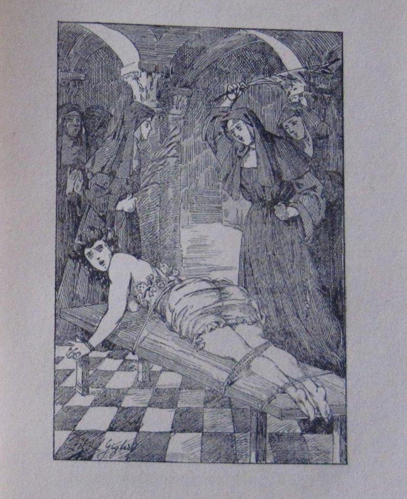 angry nuns birch a tied girl