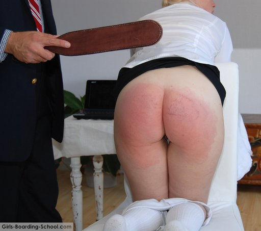 paddled blonde school girl
