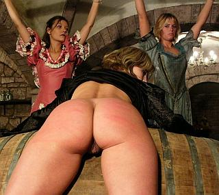 over a barrel for dungeon whipping