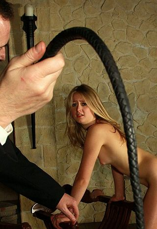 girl who just got a stroke with the bullwhip is incredulous and wants it to STOP