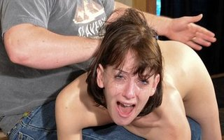 Elise Graves hard over-the-knee spanking