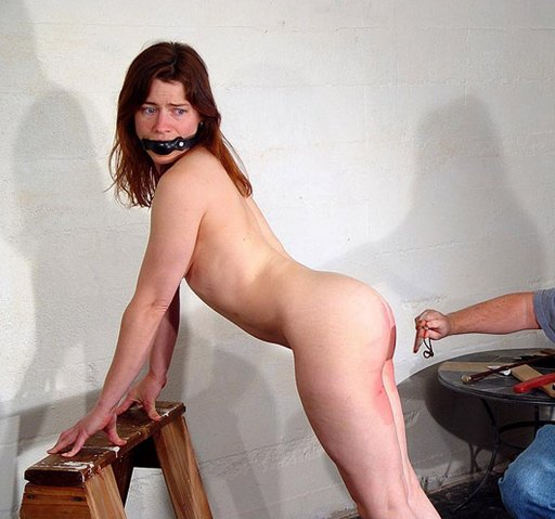 gagged girl being spanked
