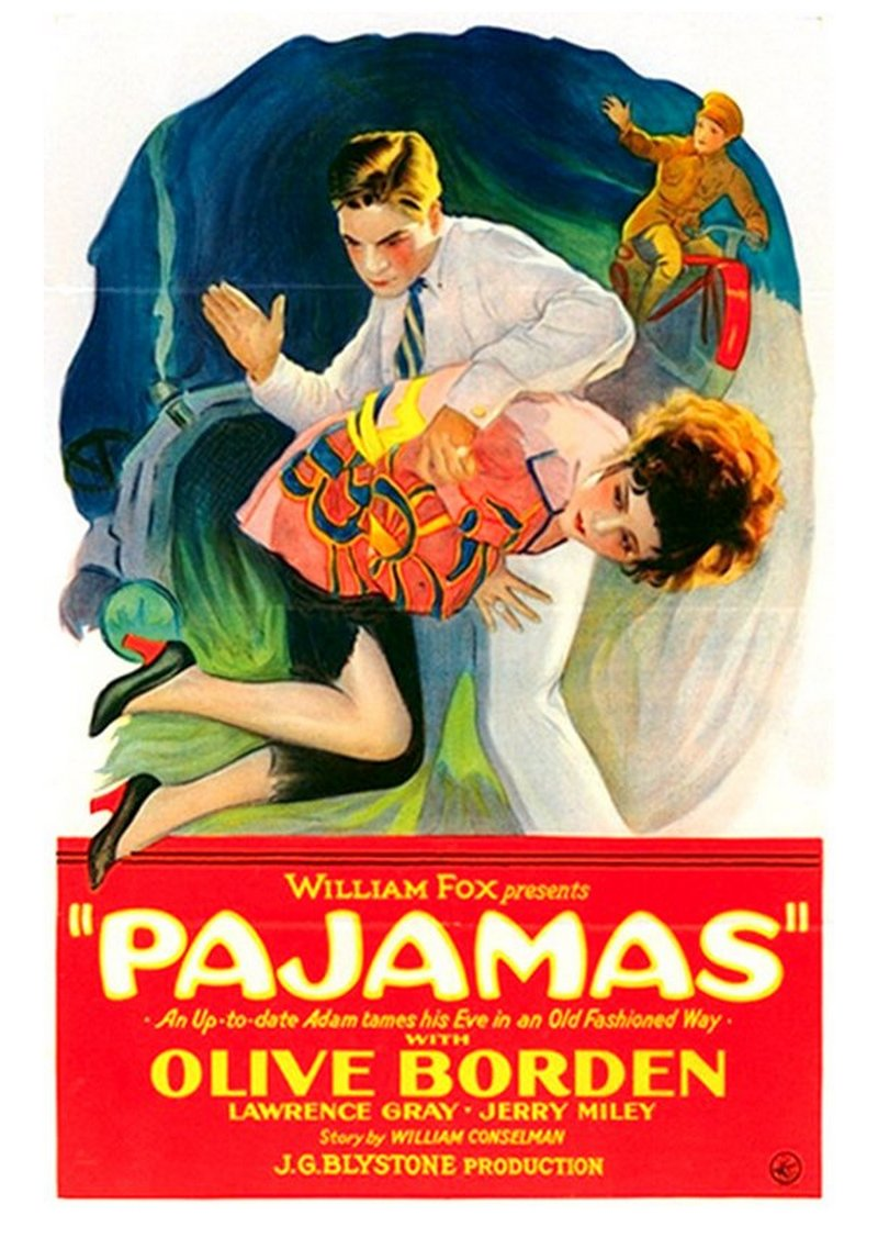 otk spanking artwork on 1927 movie poster for pajamas