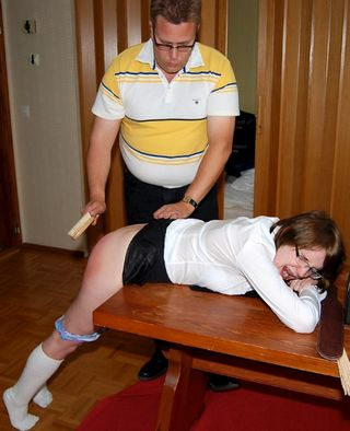 bare bottomed brush spanking