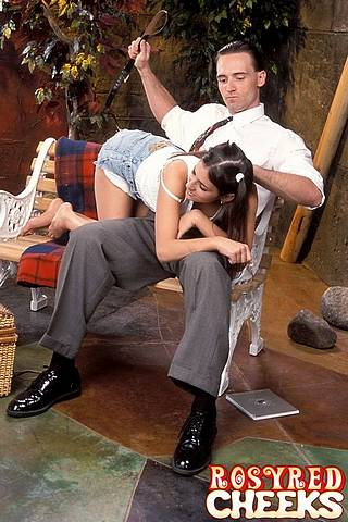 otk belt spanking in the park
