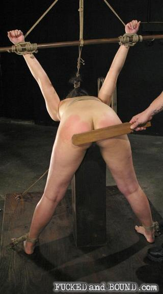 penny play in bondage and getting her ass paddled hard