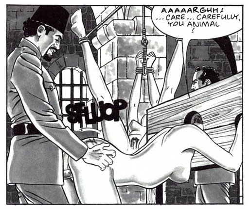 fucked in the pillory after an interrogation whipping