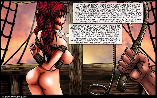pretty pirate captive fails to apprehend what her whipping is going to be like