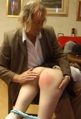 bare bottomed spanking for a girl caught fishing where she shouldn\'t when she should have been in school