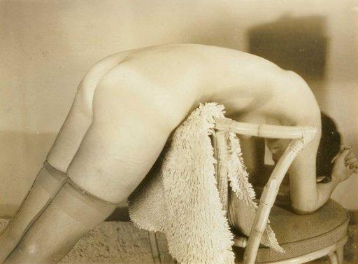 vintage spanking position photo