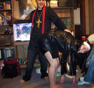 nun spanking