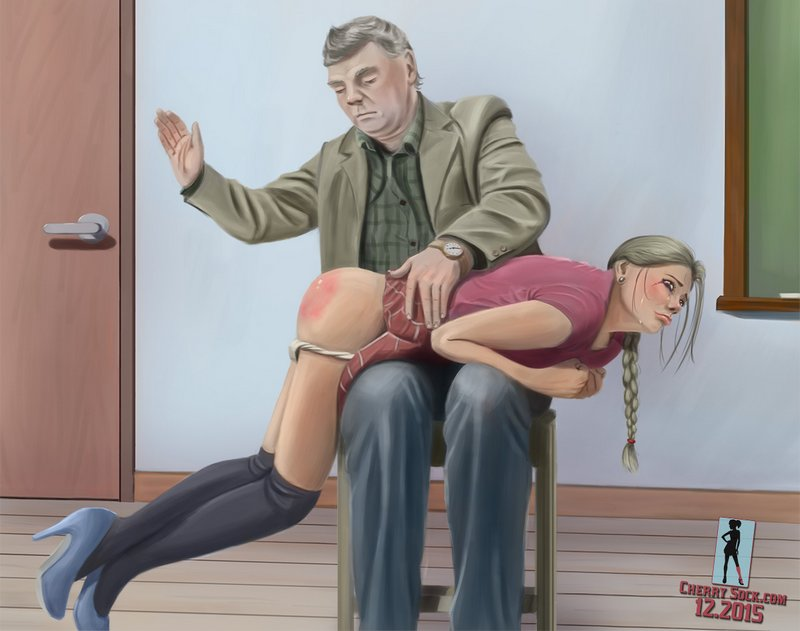 grim professor delivers OTK spanking to tearful coed
