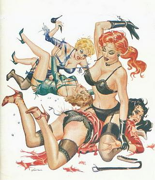 punishment party Stanton spanking illustration