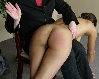classic bare-bottomed OTK spanking