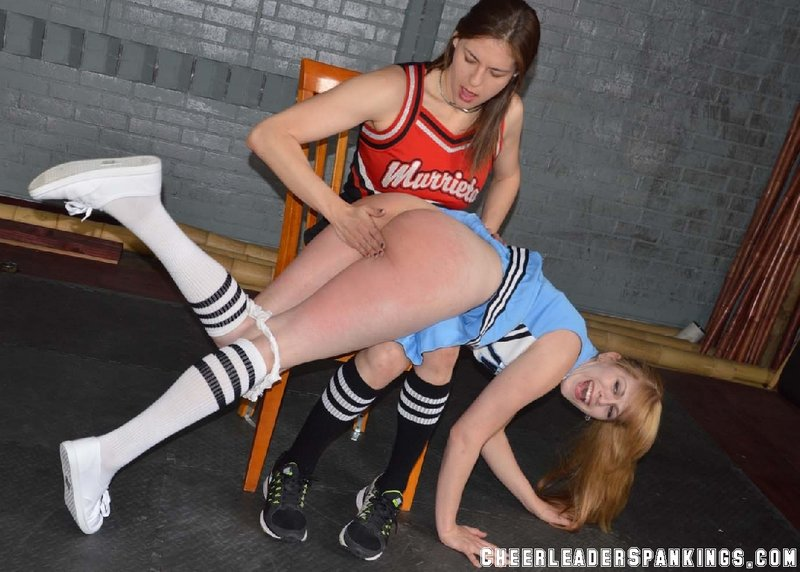 cheerleader spanking cheerleader otk