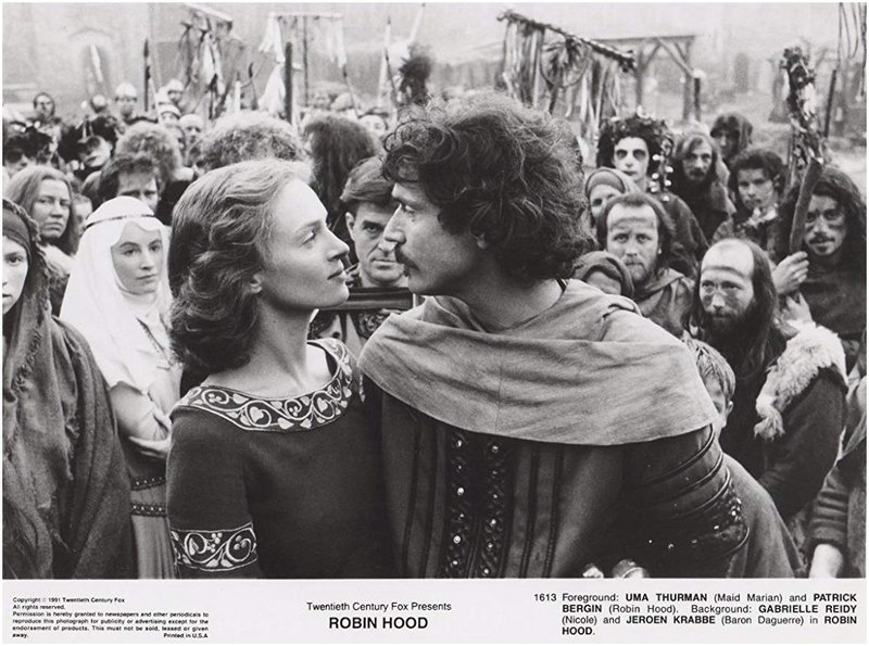 robin hood and maid marian displaying sexual tension
