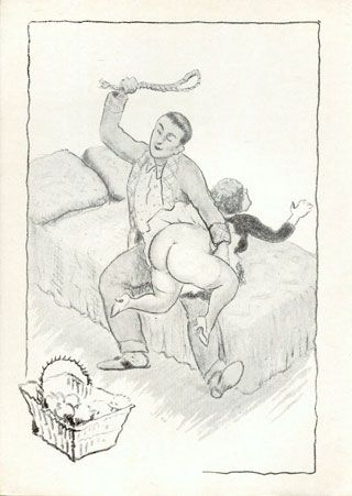 a spanking with a fold of rope on her big round bottom