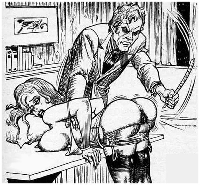 ruler spanking over his desk