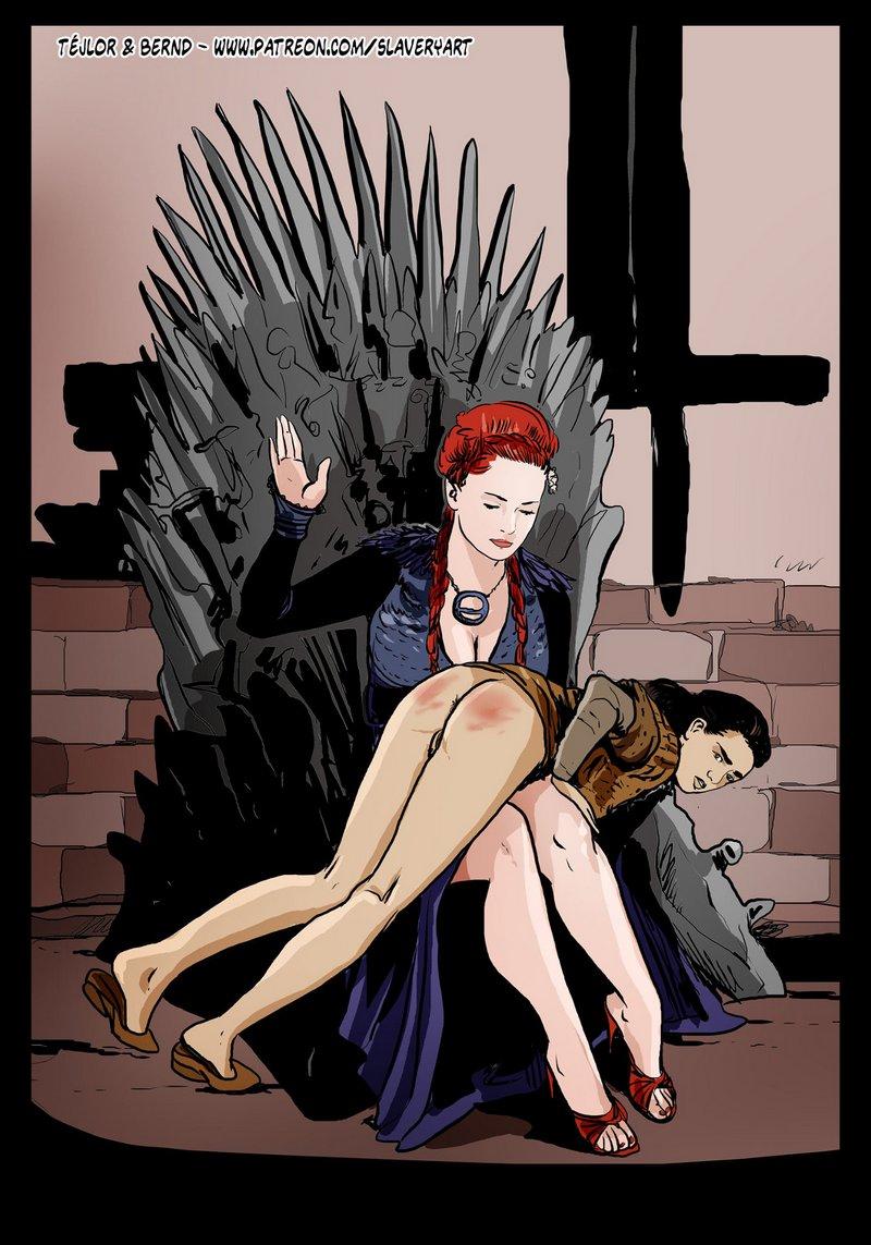 Arya spanked