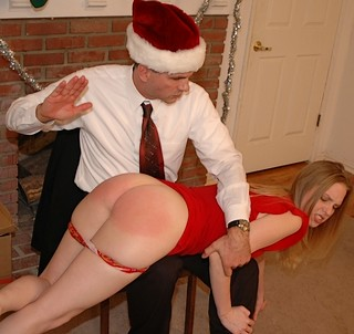 a spanking from Santa Claus