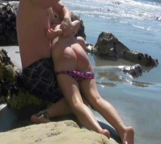 beach spanking