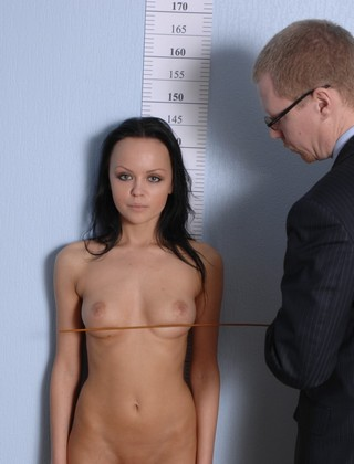 stripped for a boob caning