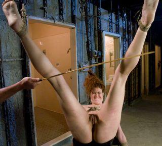 caned on her calves