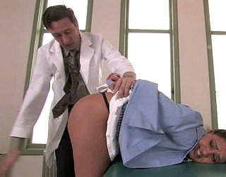 doctor spanks medical student