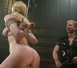 pretty bottom getting a bondage flogging