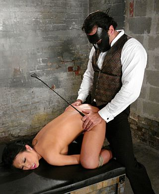 pretty volunteer getting spanked in bondage and perhaps fucked?