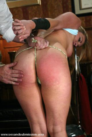cleaning lady gets a spanking