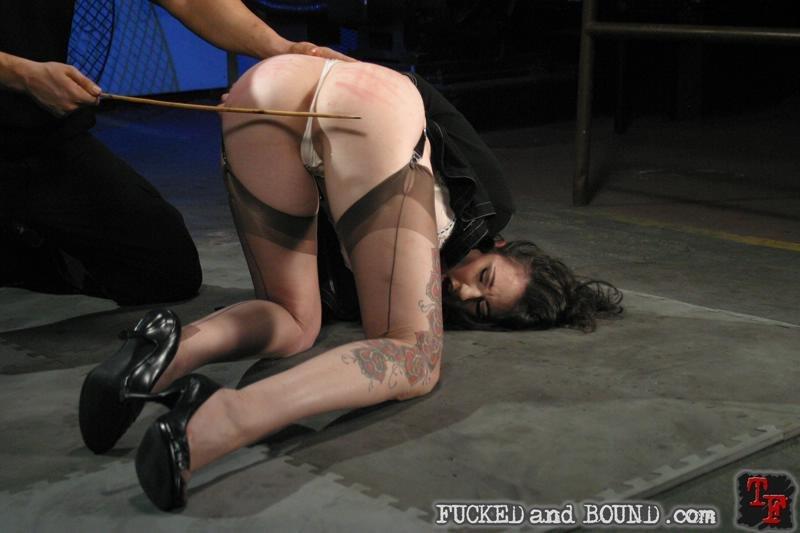 caning Natalie Minx before bondage sex