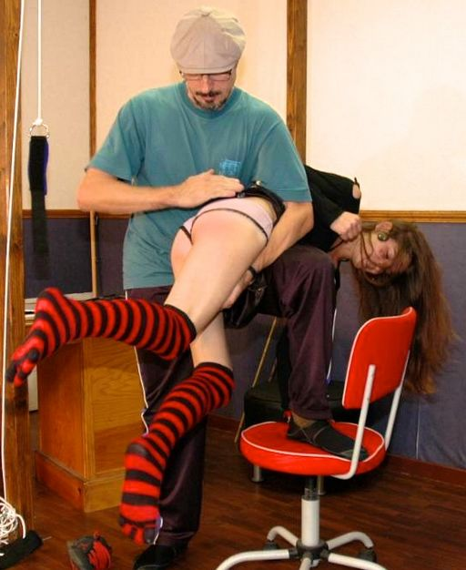 French schoolgirl gets otk spanking with her panties on
