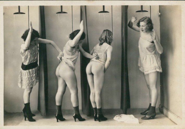spanking play in the girls school showers