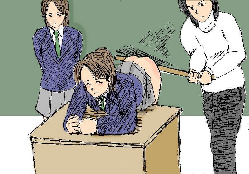 yardstick spanking Japanese