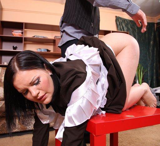 spanking her bottom