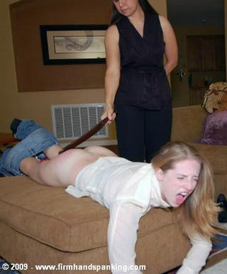 spanked and yelling girl