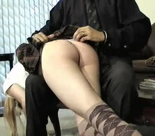 otk spanking in cute socks