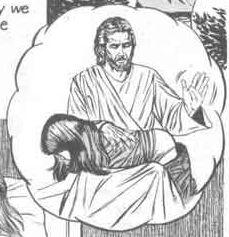 jesus spanking a girl